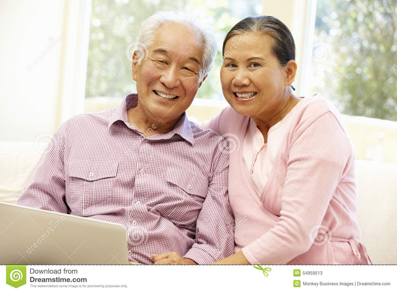 Adult asian couple