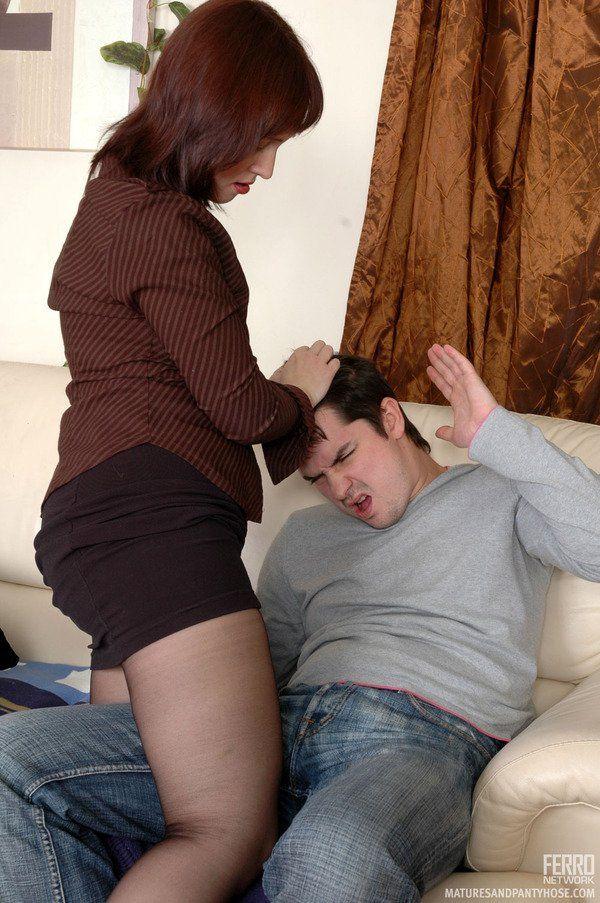 Mature women having sex wearing nylons