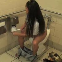 best of Pooping Girls toilet on and peeing