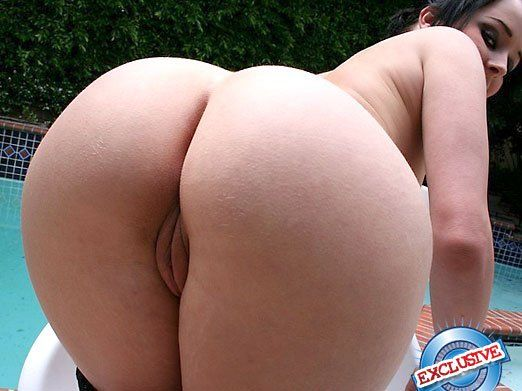 Round mound of ass anal