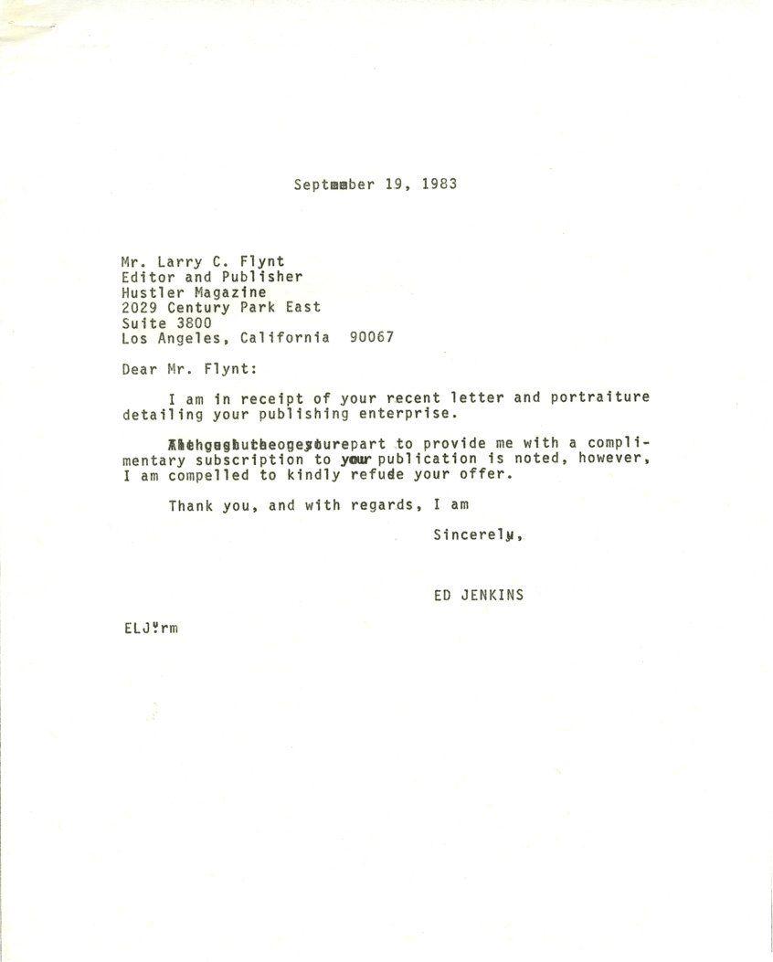 best of Editor hustler Letters