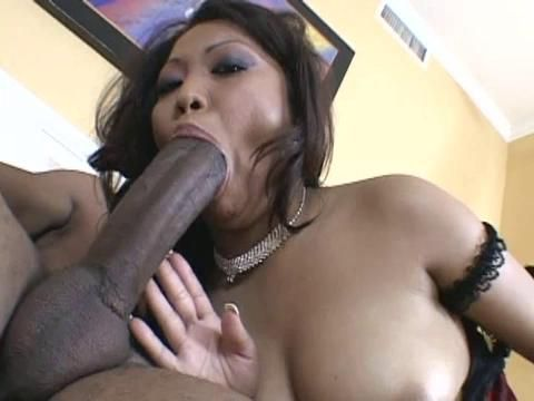 Asian takes huge black cock