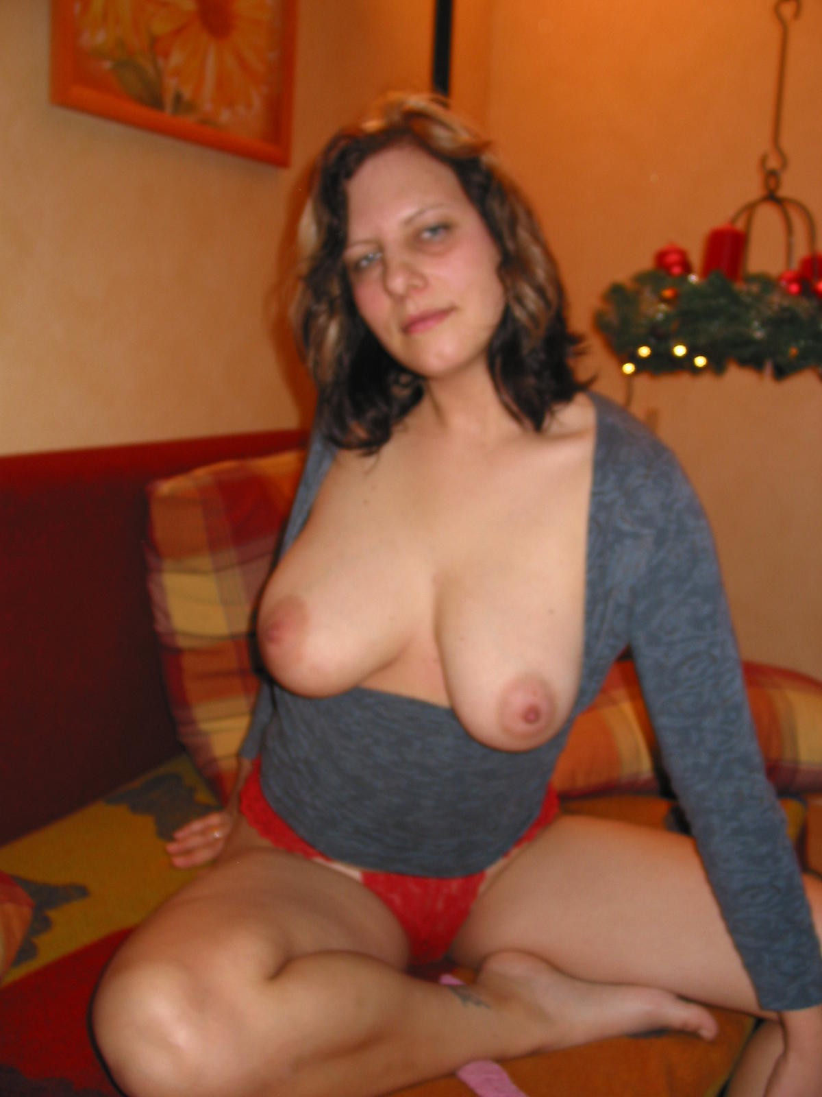 Natural red hair woman nude