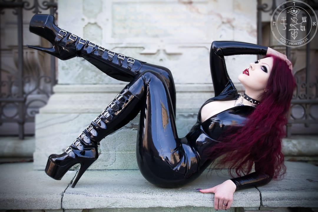 Gothic pornstar makeup