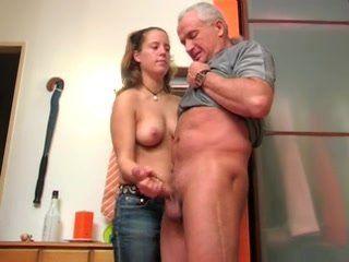 German Skinny Teen Handjob to Cum on Tits Cinema