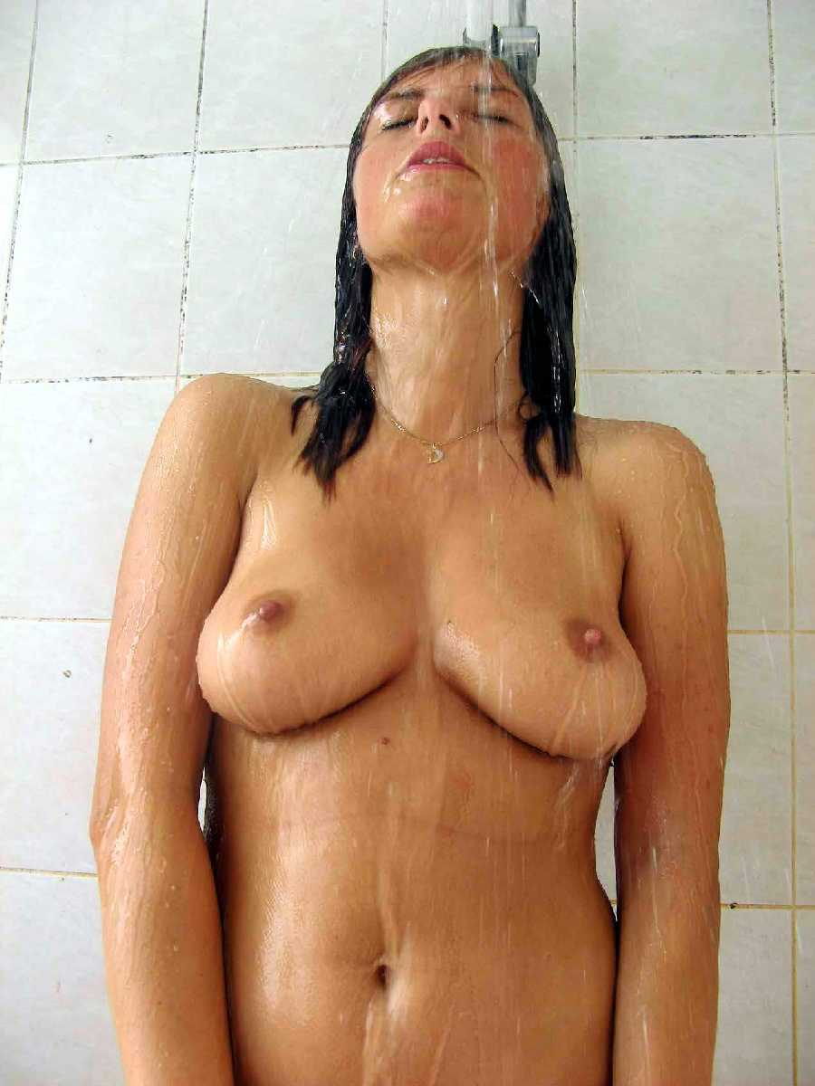 Horny girls naked in shower congratulate, your