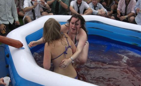 Bikini jelly mud wrestling