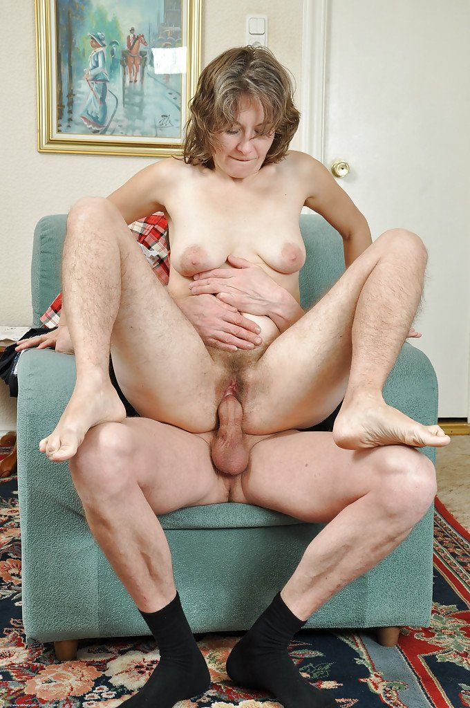 best of Hairy riding Mature cock wife husbands