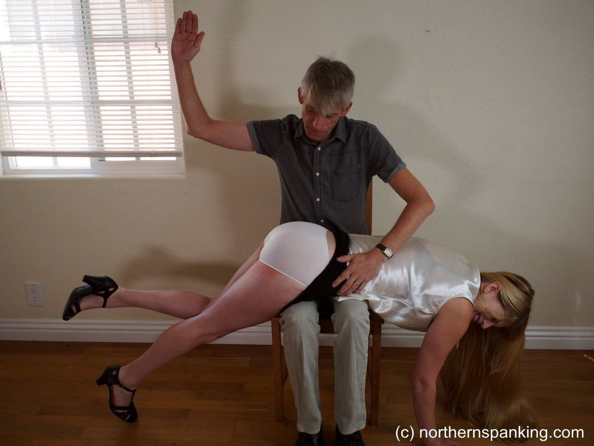 Spanked In White Panties