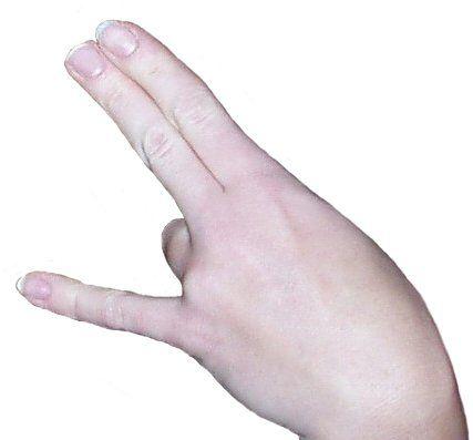Three fingers in vagina