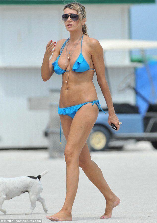 Rita g blue bikini