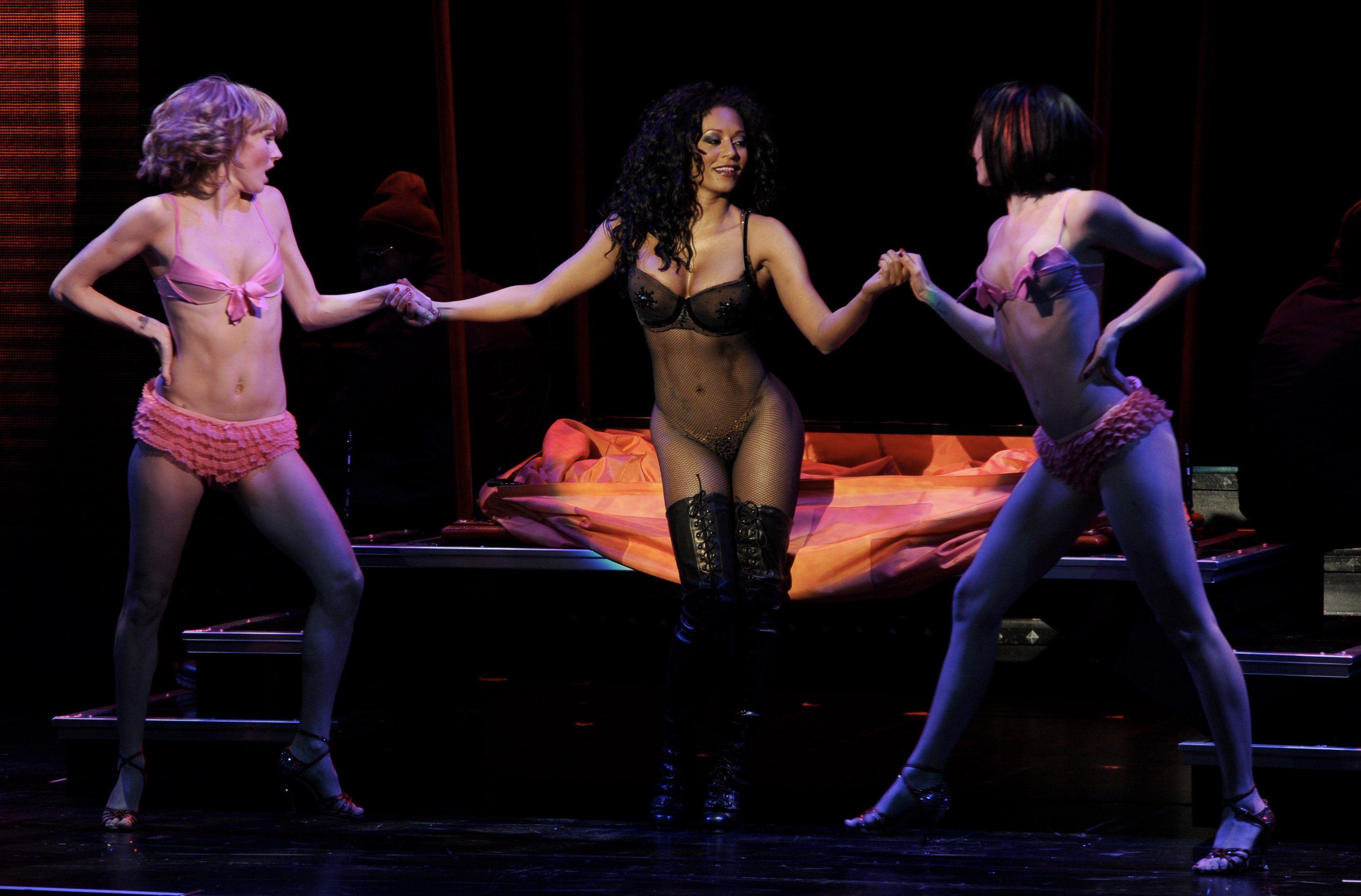 Girls at a strip show