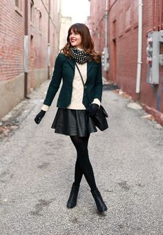 Black dress and pantyhose
