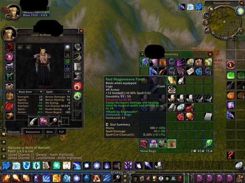 Epiphany reccomend Lvl 19 twink hunter gear