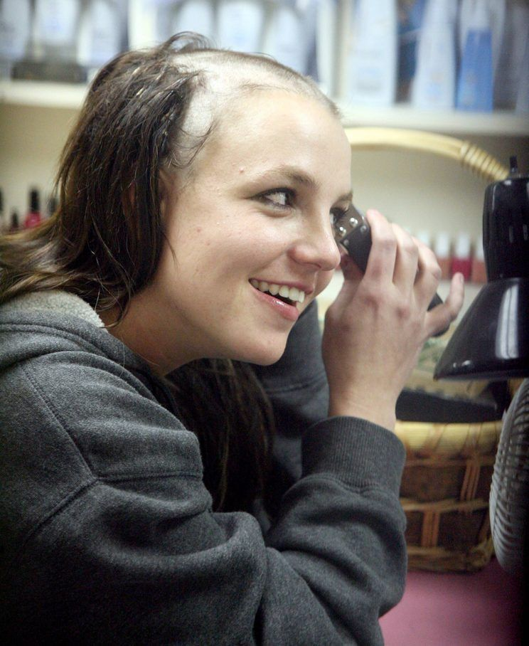 Britney head picture shaved spear tattoo
