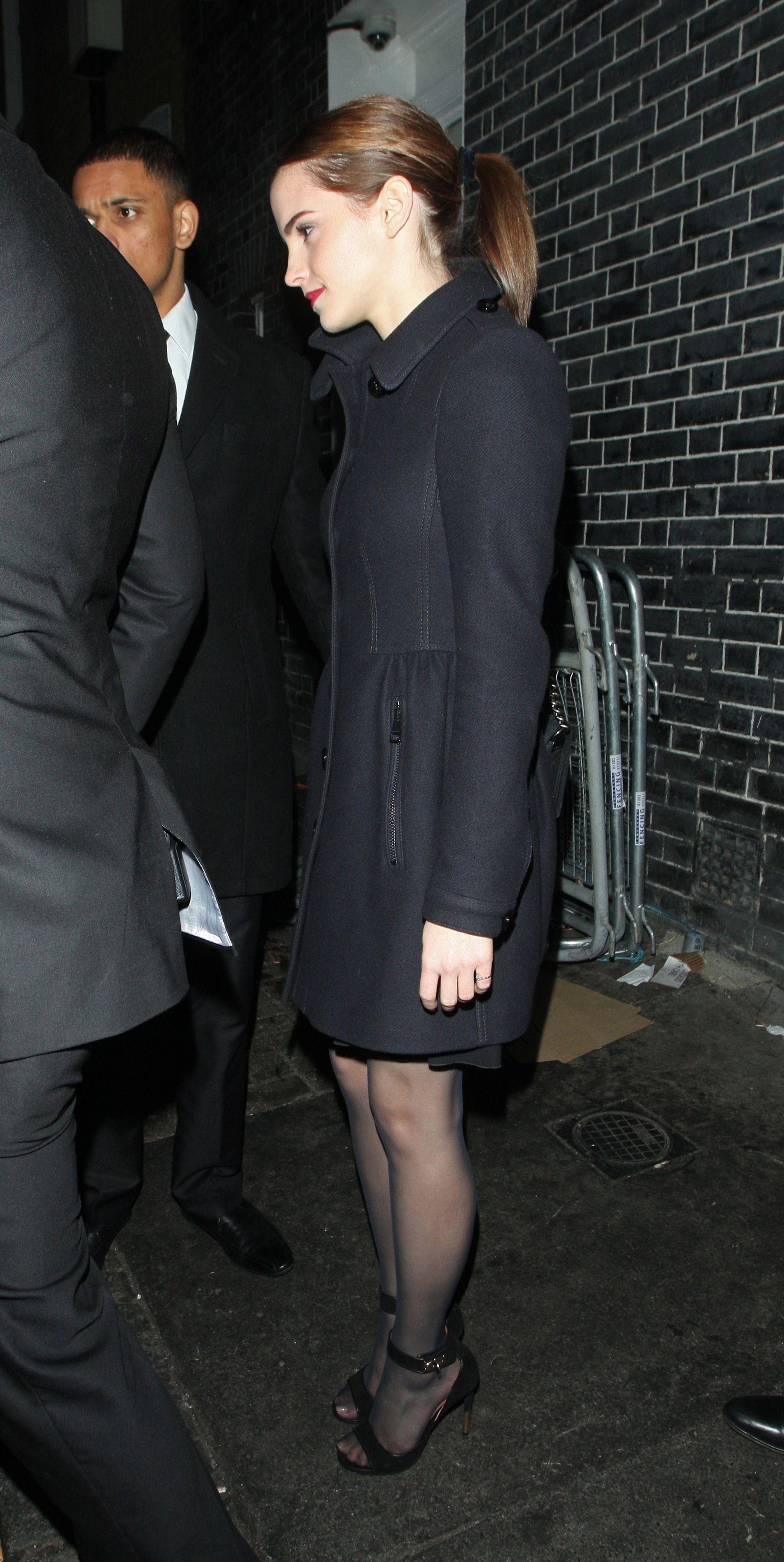 Celebrity pantyhose emma watson