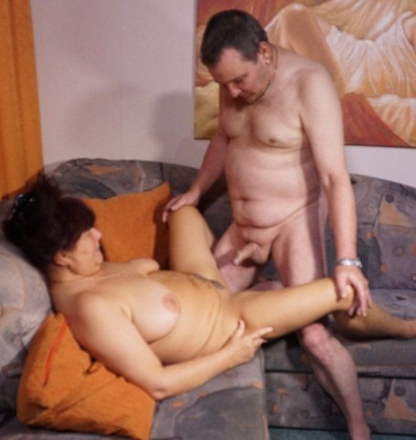 Chubby german mature takes a young cock
