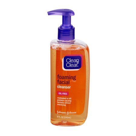 Earl reccomend Clean and clear oil free foaming facial cleanser