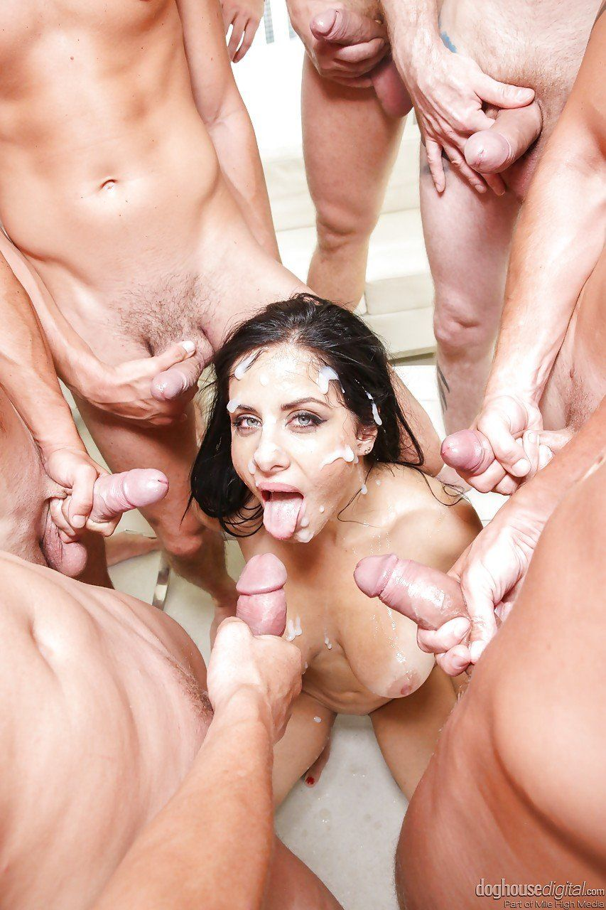 Gang Bang Cum Shot