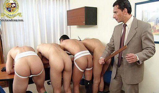 Frat boys spanked