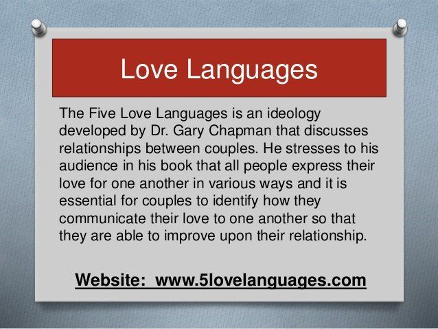 Dr Gary Chapman Five Love Languages Test Pron Pictures 2018