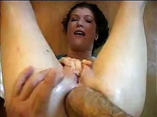 Funnel C. recommend best of Blonde girl is horny at home until a train of 4 sausages arrived. Anal porno