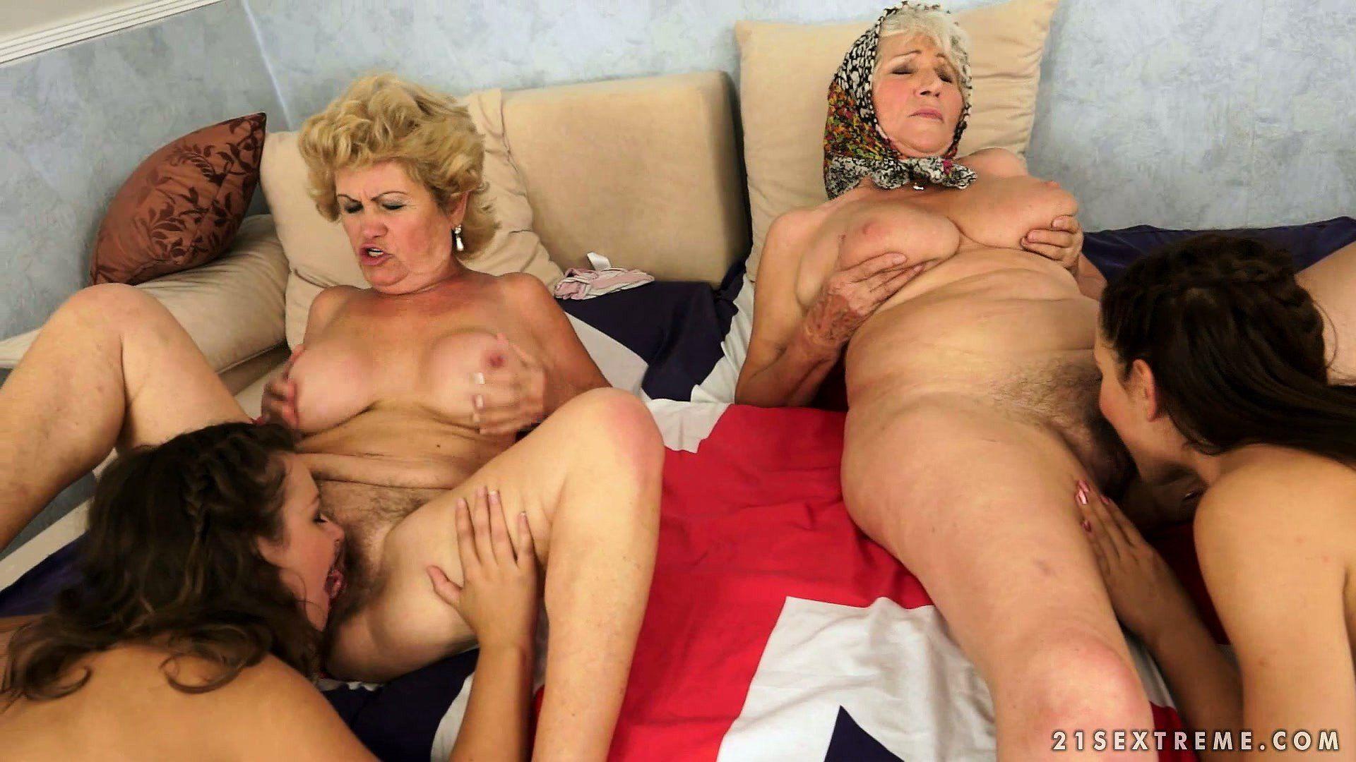 Mature Lesbian Orgy