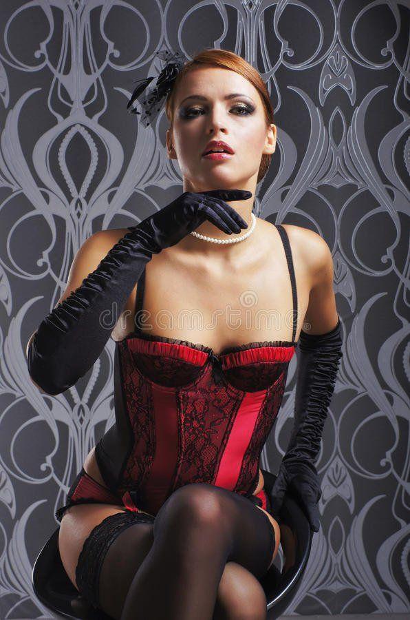 Redhead sexy stocking woman