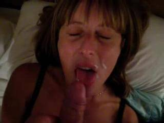 her cum down Unload throat my